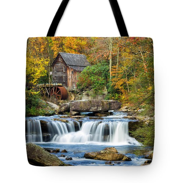 Colorful Autumn Grist Mill Tote Bag