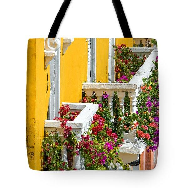 Colorful Balconies Tote Bag