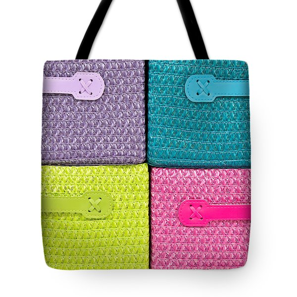 Colorful Baskets Tote Bag by Tom Gowanlock