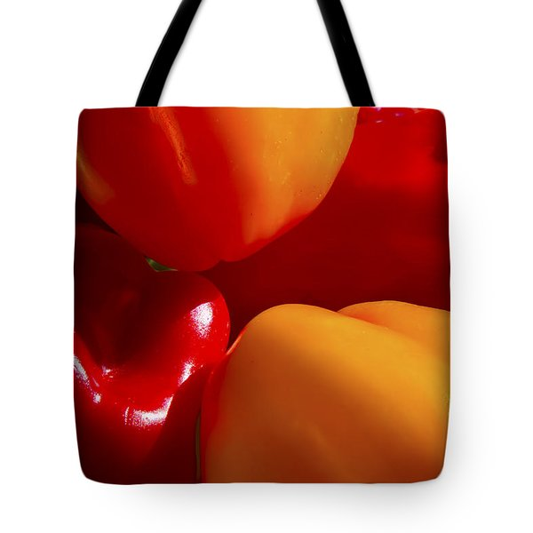 Tote Bag featuring the photograph Colorful Bells by Gary Holmes