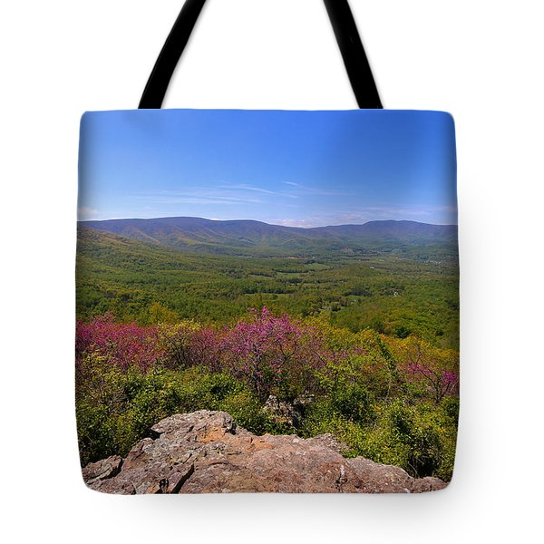 Colorful Blue Ridge Spring Tote Bag