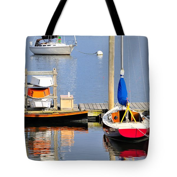 Colorful Boats Rockland Maine Tote Bag