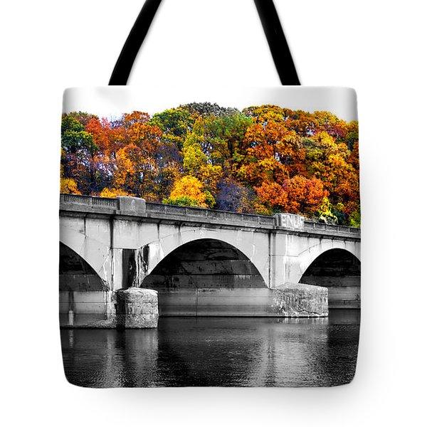 Colorful Bridge Tote Bag