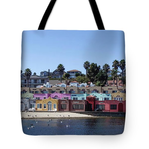 Colorful Buildings And Beach Tote Bag