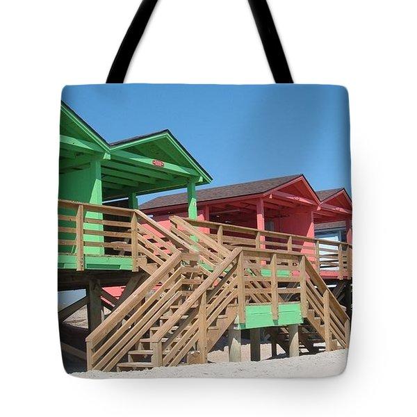 Colorful Cabanas Tote Bag