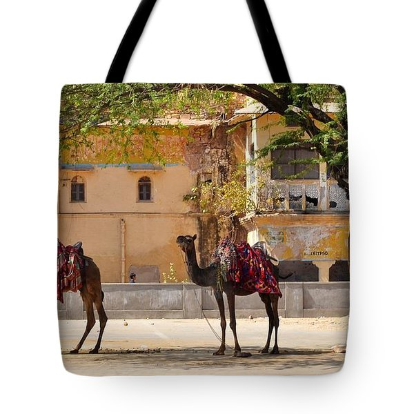Colorful Camels - Jaipur India Tote Bag by Kim Bemis