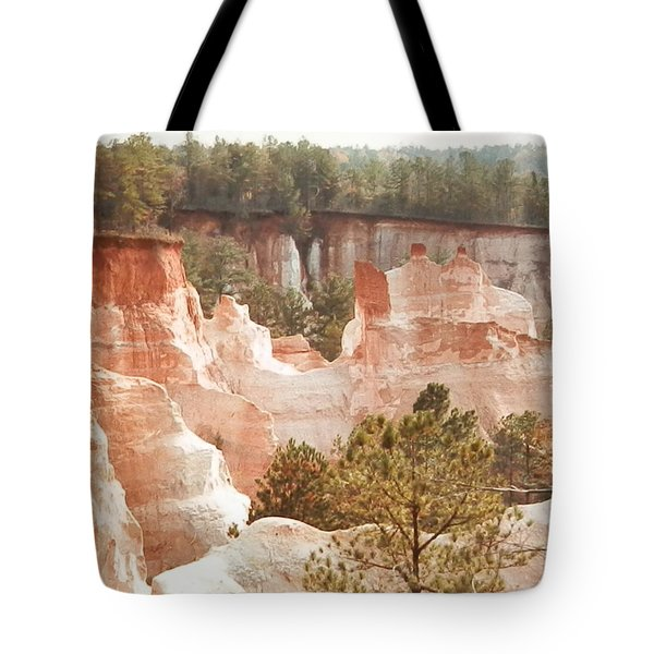 Tote Bag featuring the photograph Colorful Georgia Canyon Wonder by Belinda Lee