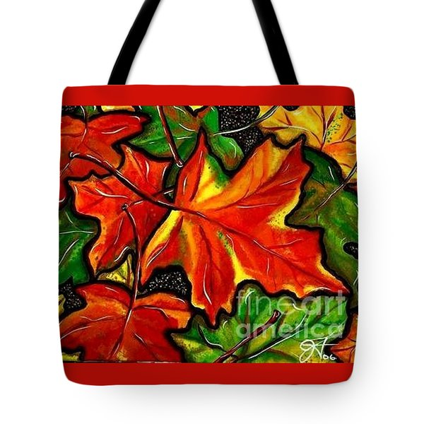 Tote Bag featuring the painting Colorful Carpet by Jackie Carpenter