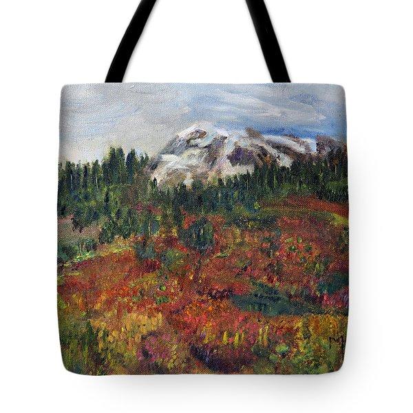 Colorful Cascades Tote Bag