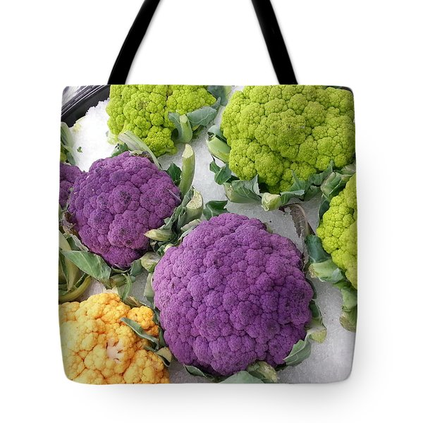 Tote Bag featuring the photograph Colorful Cauliflower by Caryl J Bohn