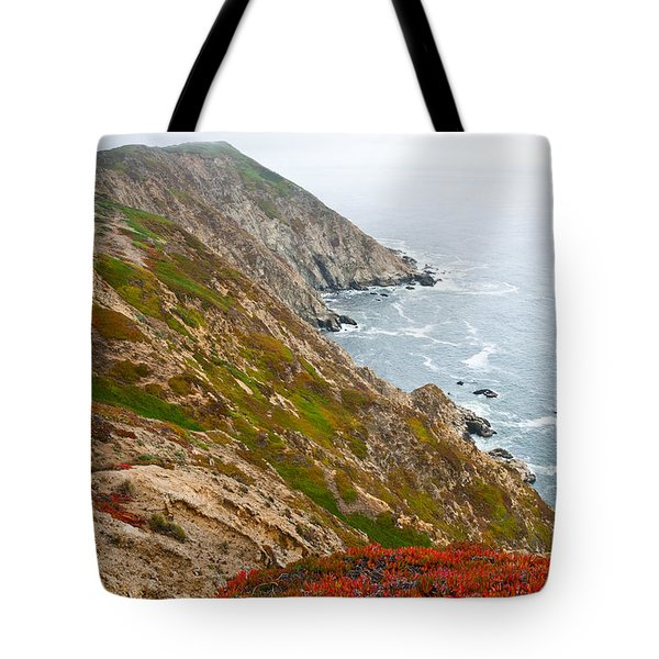 Colorful Cliffs At Point Reyes Tote Bag by Jeff Goulden