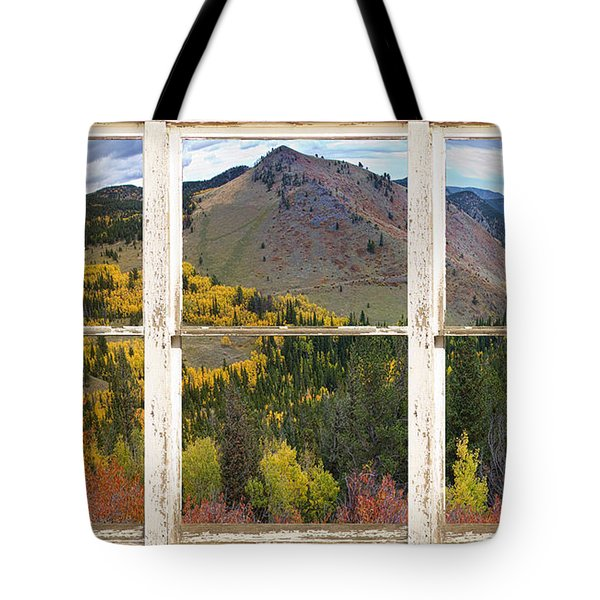Colorful Colorado Rustic Window View Tote Bag