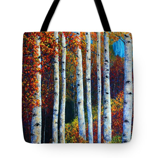 Colorful Colordo Aspens Tote Bag