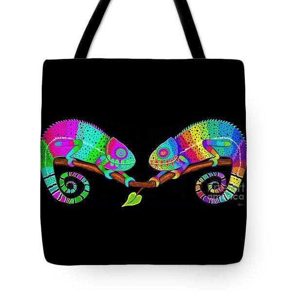Colorful Companions Tote Bag by Nick Gustafson