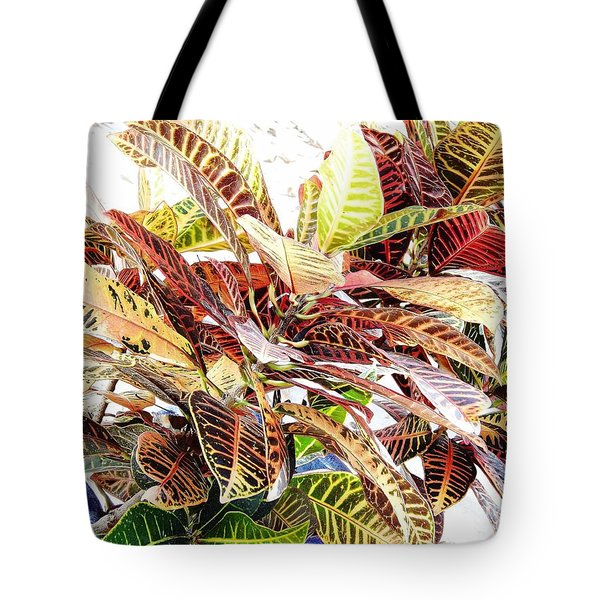 Colorful - Croton - Plant Tote Bag