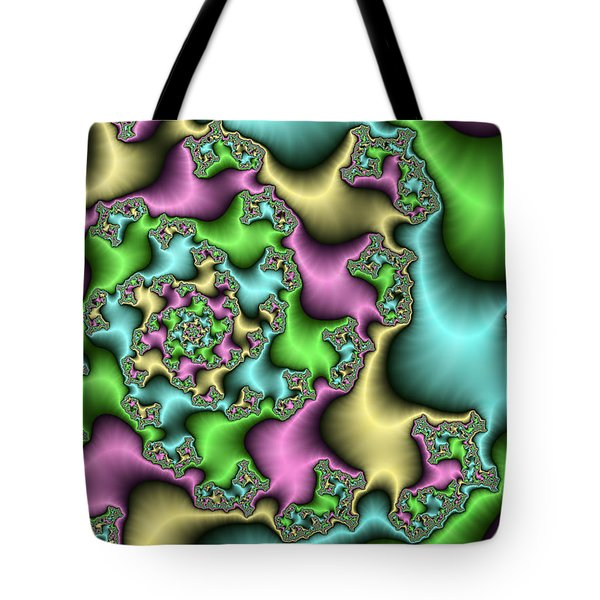 Tote Bag featuring the digital art Colorful Depth by Gabiw Art
