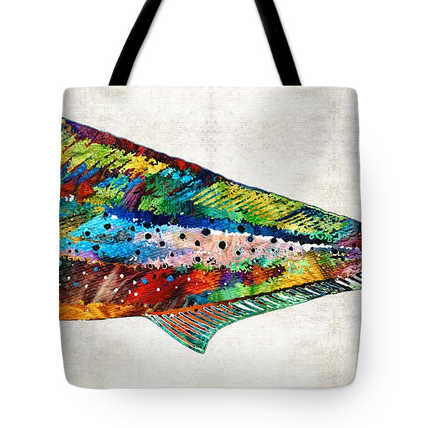 Colorful Dolphin Fish By Sharon Cummings Tote Bag