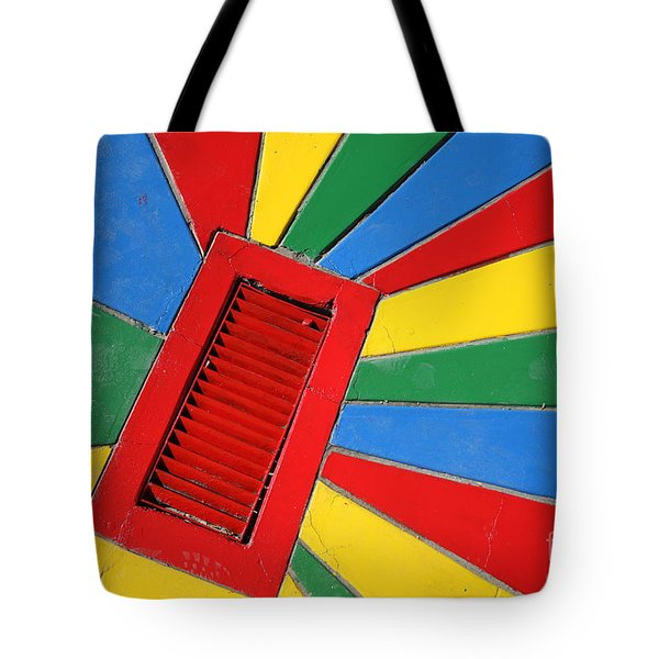 Colorful Drain Tote Bag by James Brunker