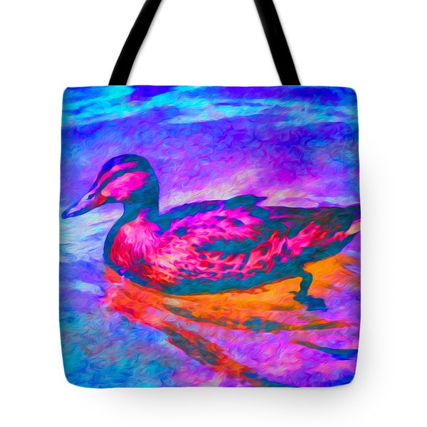 Colorful Duck Art By Priya Ghose Tote Bag