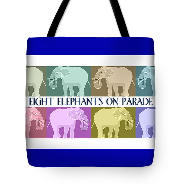 Colorful Elephants Tote Bag by Marian Cates
