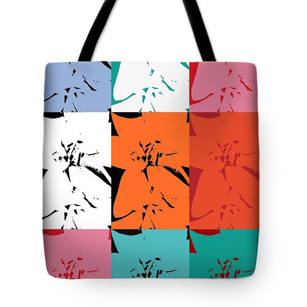 Colorful Flowers  Lily Tote Bag