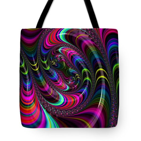 Colorful Fractal Art Tote Bag