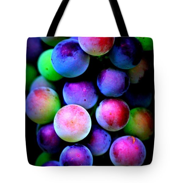Colorful Grapes - Digital Art Tote Bag by Carol Groenen