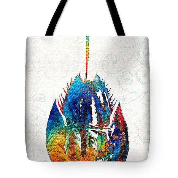 Colorful Horseshoe Crab Art By Sharon Cummings Tote Bag