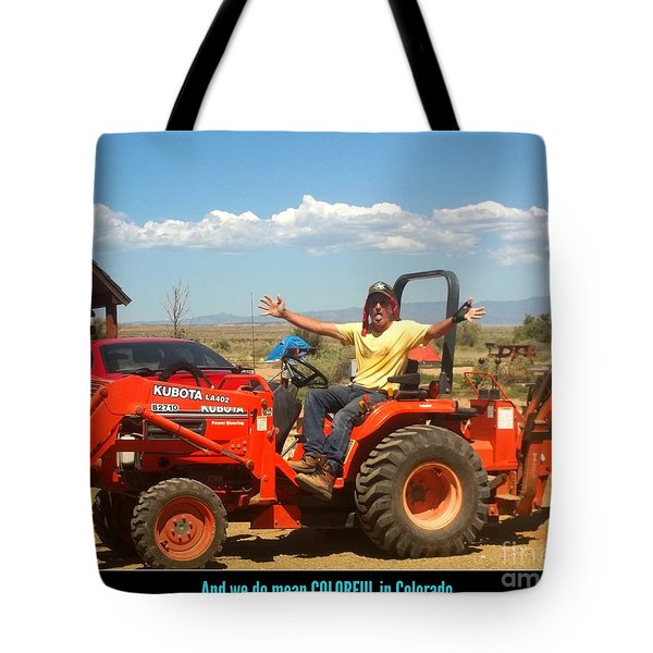 Colorful In Colorado Tote Bag by Kelly Awad