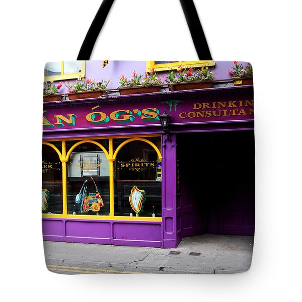Colorful Irish Pub Tote Bag by Aidan Moran