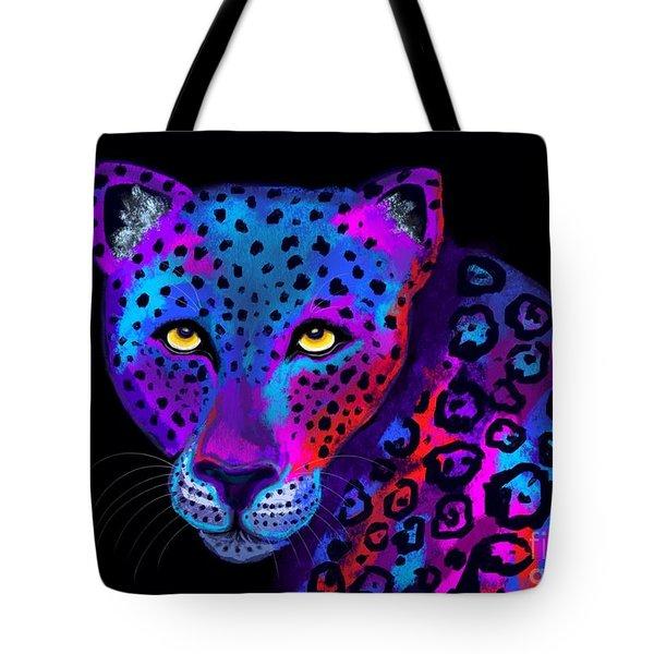 Colorful Jaguar Tote Bag