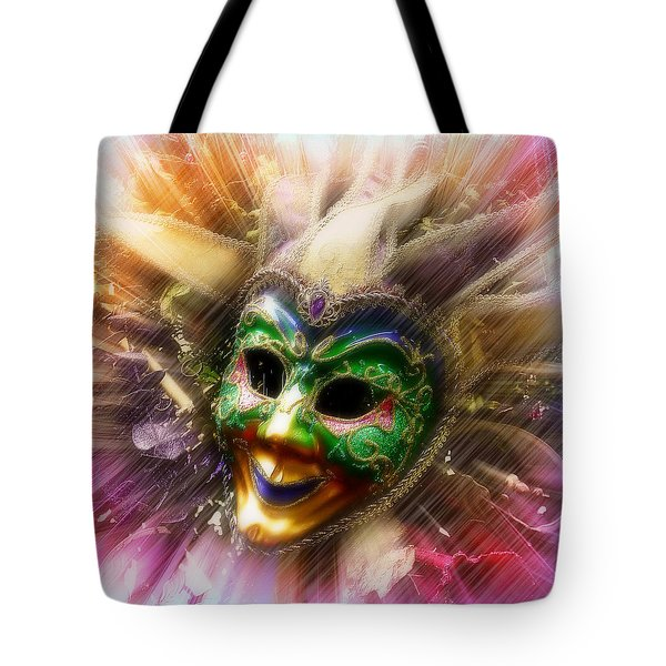 Tote Bag featuring the photograph Colorful Jester by Amanda Eberly-Kudamik