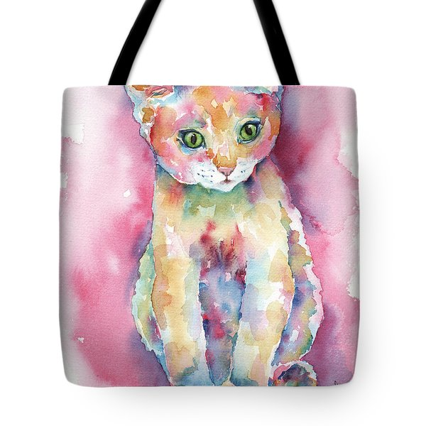 Colorful Kitten Tote Bag