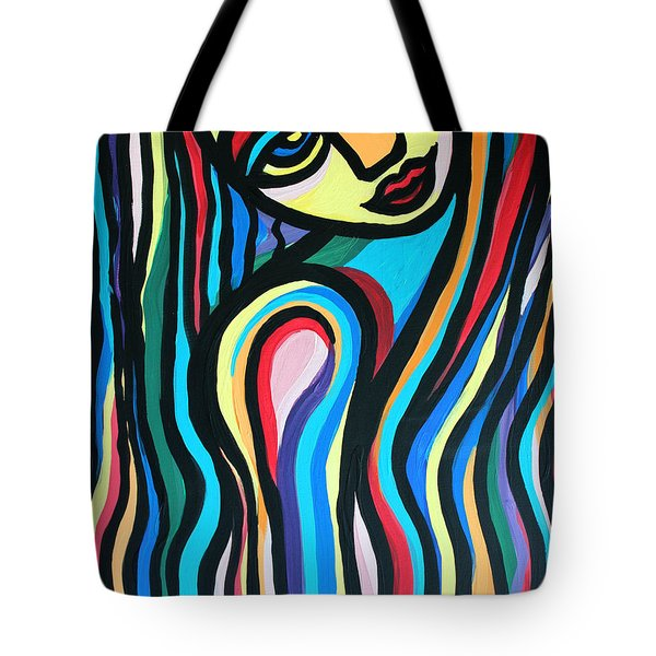 Colorful Lady  Tote Bag