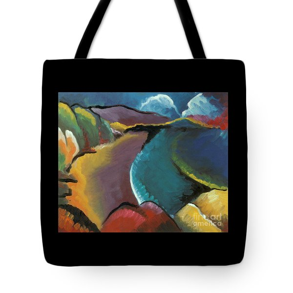 colorful abstract oil painting - Rocky Beach Tote Bag