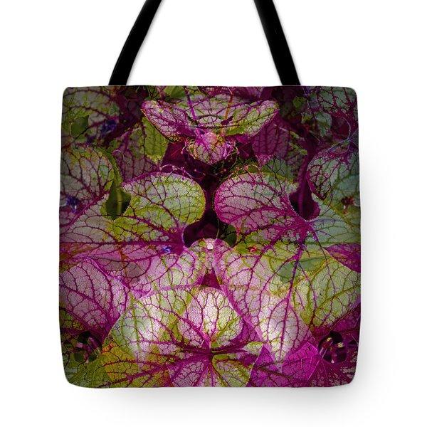 Colorful Leaf Tote Bag by Eiwy Ahlund