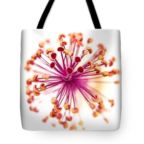 Colorful Macro Flower Tote Bag