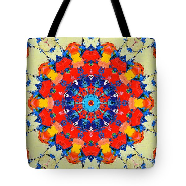 Colorful Mandala Tote Bag by Ana Maria Edulescu