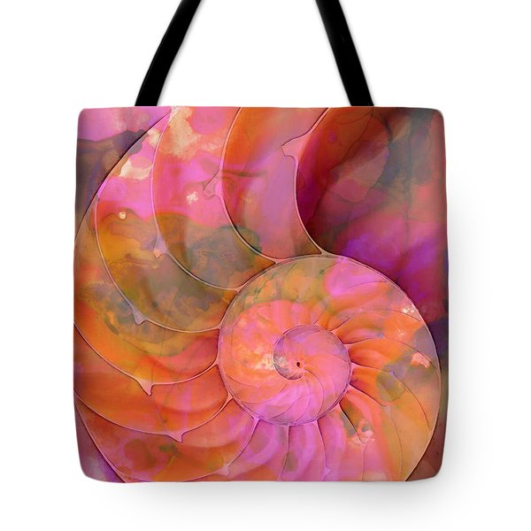 Colorful Nautilus Shell By Sharon Cummings Tote Bag