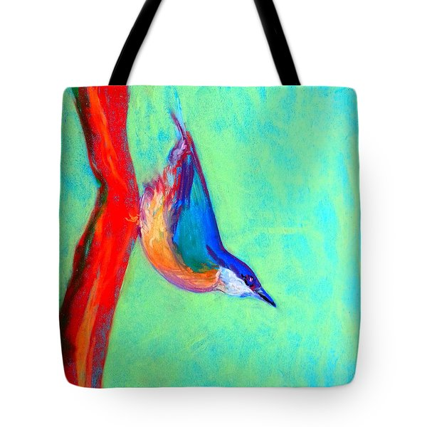 Colorful Nuthatch Bird Tote Bag