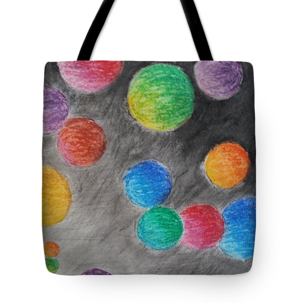 Colorful Orbs Tote Bag by Thomasina Durkay
