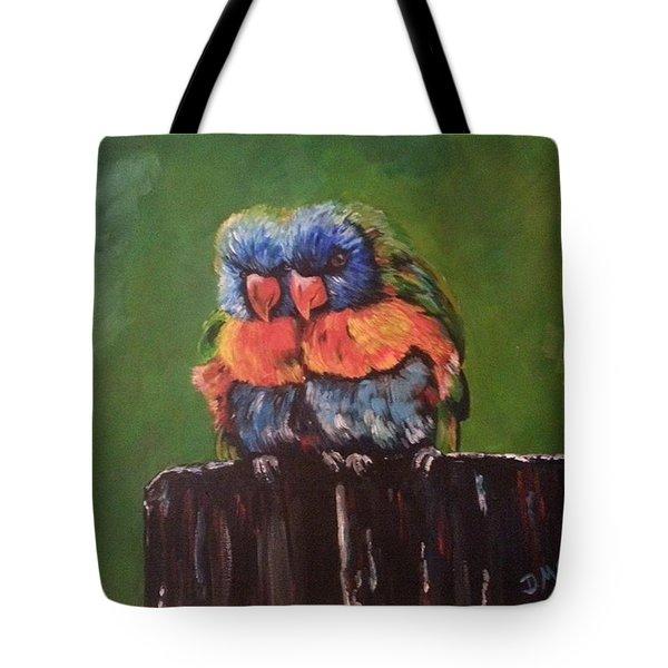 Colorful Parrots Tote Bag