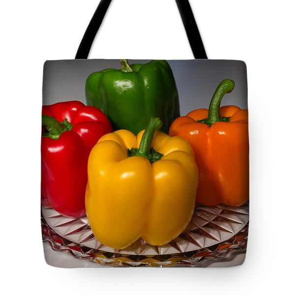 Colorful Platter Tote Bag by Shane Bechler