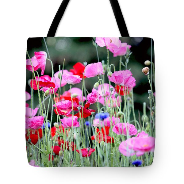 Tote Bag featuring the photograph Colorful Poppies by Peggy Collins