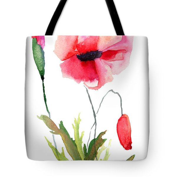 Colorful Poppy Flowers Tote Bag