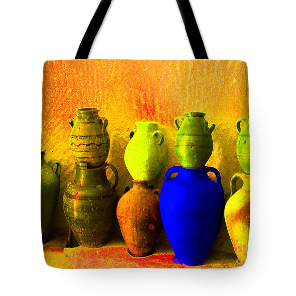 Colorful Pottery Tote Bag
