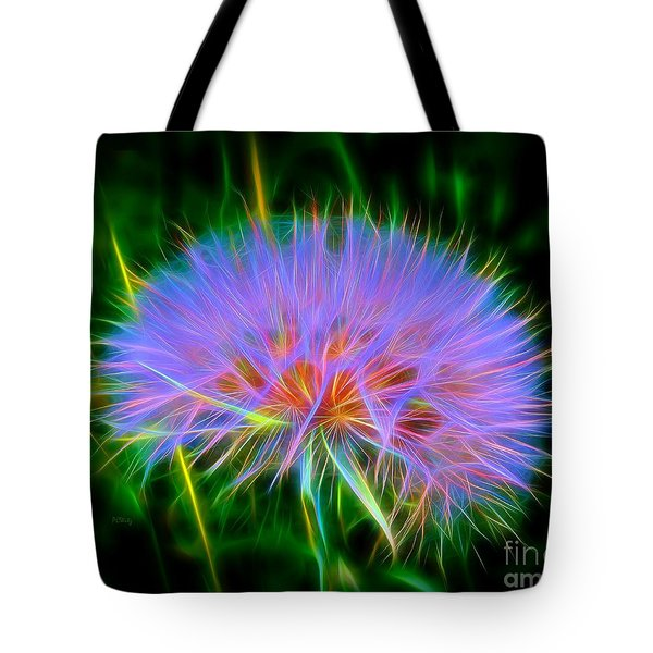Colorful Puffball Tote Bag