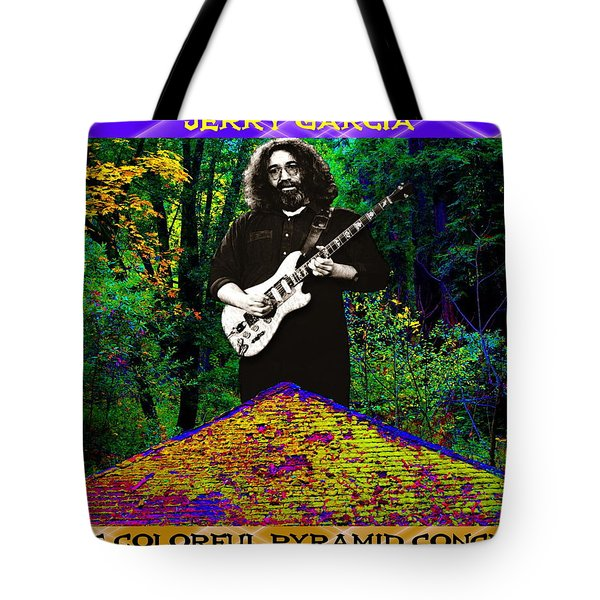 Tote Bag featuring the photograph Colorful Pyramid Concert by Ben Upham