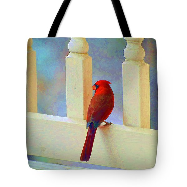 Tote Bag featuring the photograph Colorful Redbird by Kenny Francis