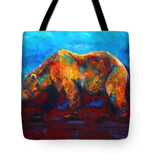 Colorful Reflections Bear Painting Tote Bag